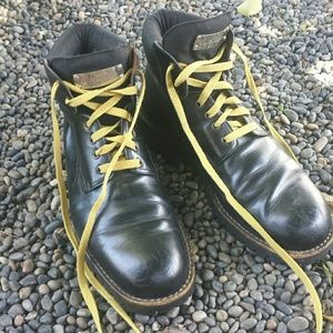 Vintage Dolce and Gabbana black leather boots